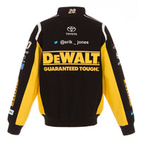 2018 Erik Jones Dewalt Nascar Twill Jacket - Black