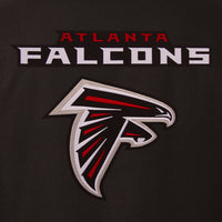 Atlanta Falcons Reversible Wool Jacket - Black/Red