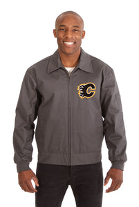 Calgary Flames Cotton Twill Workwear Jacket - Charcoal - JH Design
