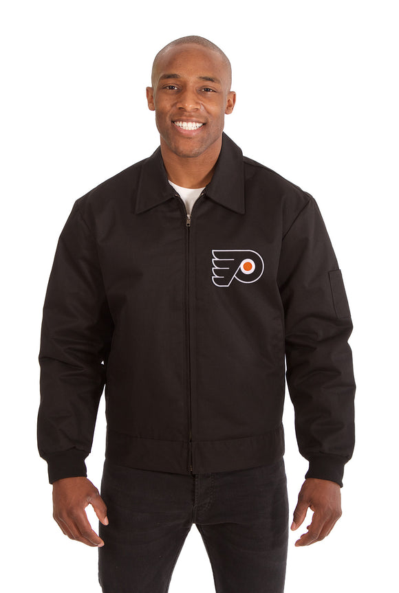 Philadelphia Flyers Cotton Twill Workwear Jacket - Black