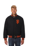San Francisco Giants Wool Jacket w/ Handcrafted Leather Logos - Black