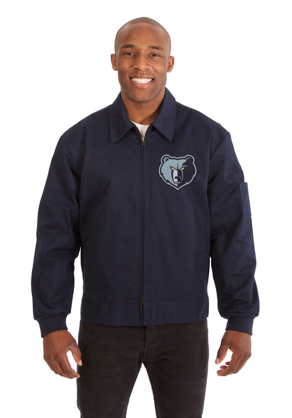 Memphis Grizzlies Cotton Twill Workwear Jacket - Navy