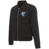 Memphis Grizzlies JH Design Reversible Women Fleece Jacket - Black - JH Design