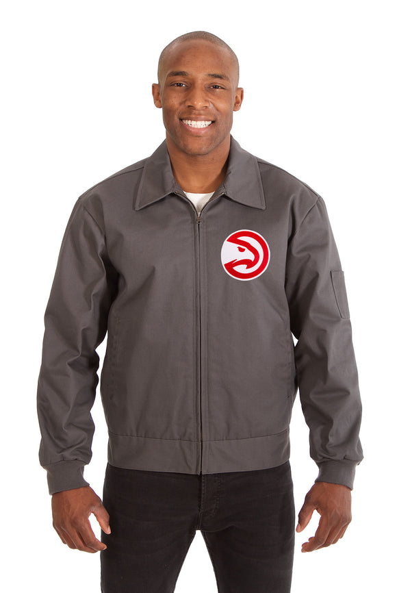 Atlanta Hawks Cotton Twill Workwear Jacket - Charcoal