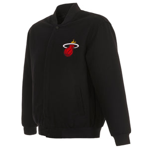 Miami Heat Reversible Wool Jacket - Black - JH Design