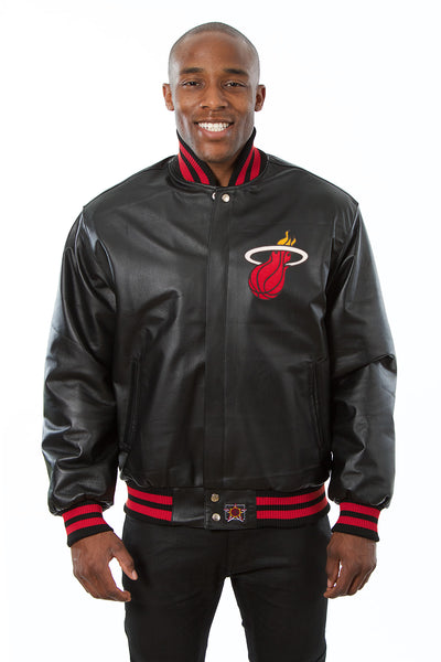 Miami Heat Full Leather Jacket - Black
