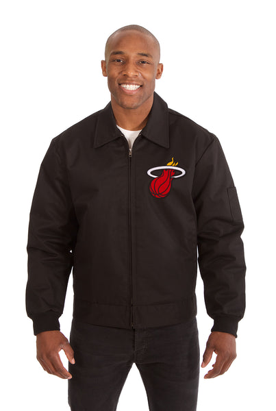 Miami Heat Cotton Twill Workwear Jacket - Black