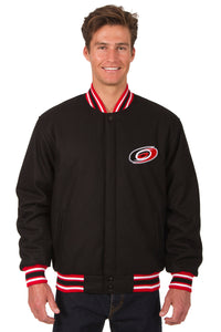 Carolina Hurricanes Reversible Wool Jacket - Black/Red - JH Design