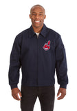 Cleveland Indians Cotton Twill Workwear Jacket - Navy