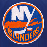 New York Islanders JH Design Lightweight Nylon Bomber Jacket – Royal - JH Design