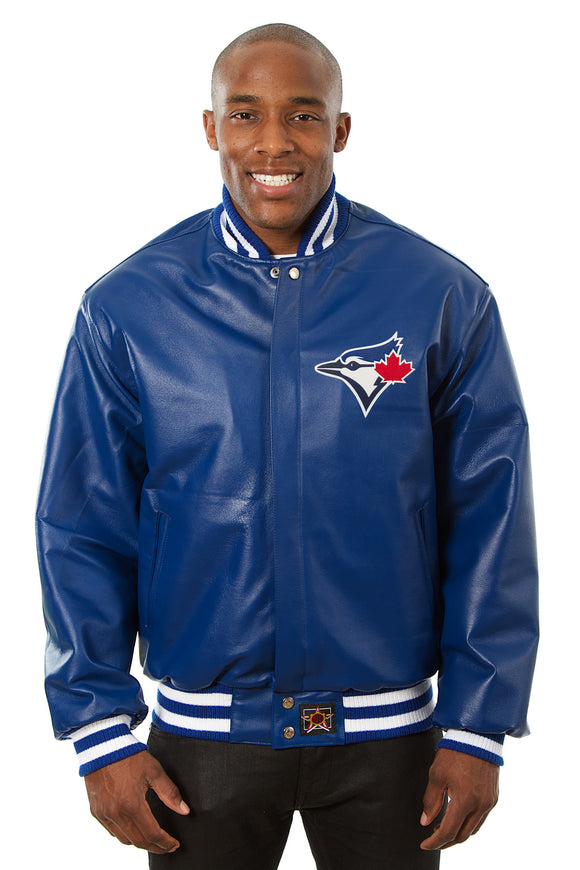 Toronto Blue Jays Full Leather Jacket - Royal - JH Design
