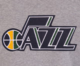 Utah Jazz Two-Tone Reversible Fleece Hooded Jacket - Gray/Navy - JH Design