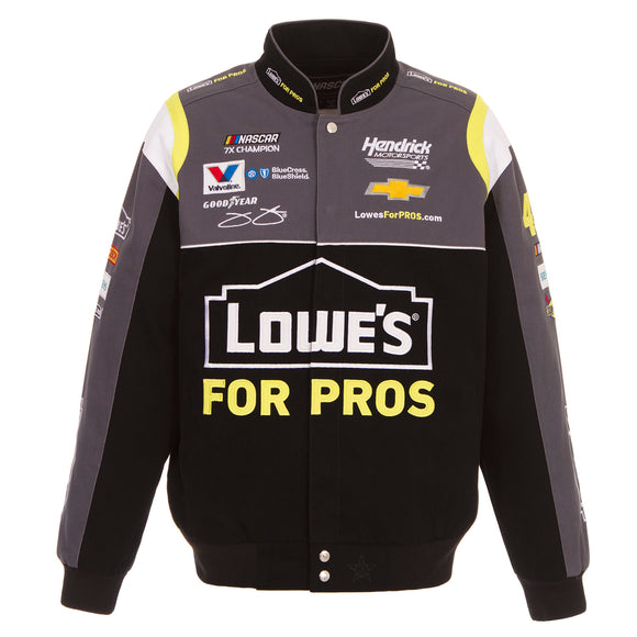 2018 Jimmie Johnson Lowe's Nascar Jacket - Black - JH Design