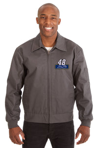 Jimmie Johnson Cotton Twill Workwear Jacket - Charcoal - JH Design