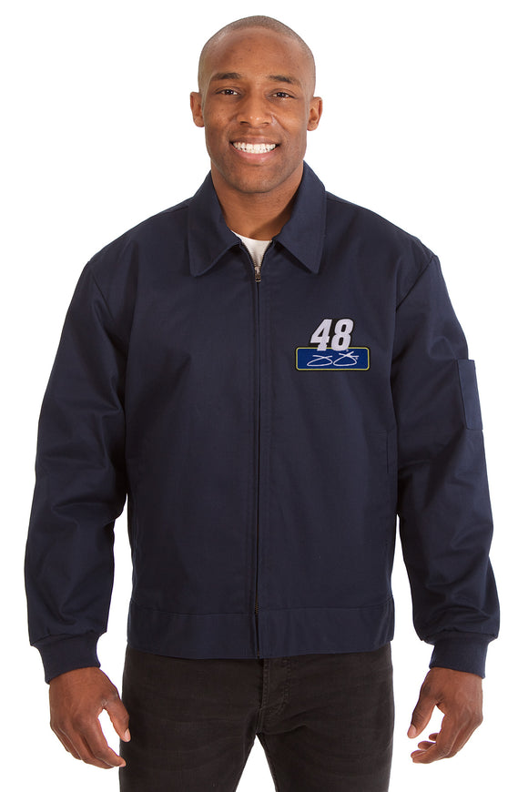 Jimmie Johnson Cotton Twill Workwear Jacket - Navy - JH Design