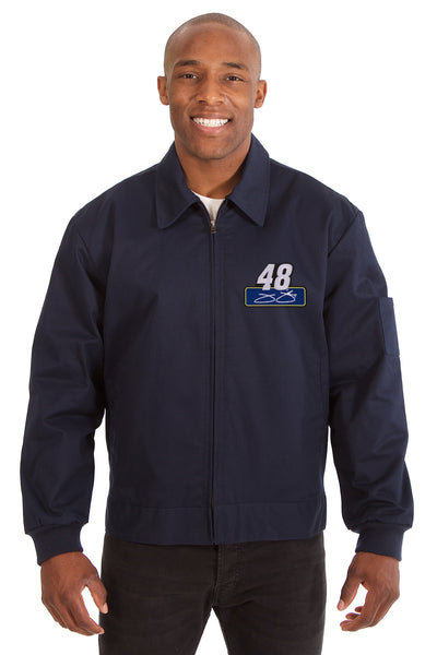 Jimmie Johnson Cotton Twill Workwear Jacket - Navy