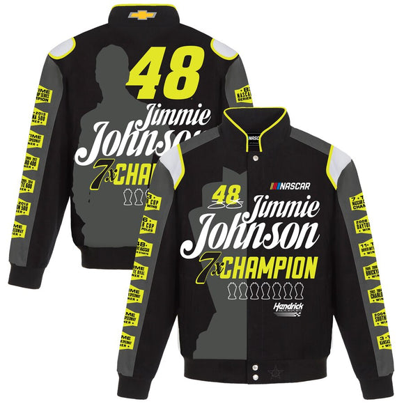Jimmie Johnson JH Design Special Edition Twill Uniform Jacket - Black/Charcoal - JH Design