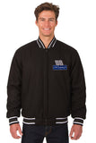 Dale Earnhardt Jr. Wool Varsity Jacket - Black