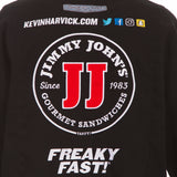 2018 Kevin Harvick  Jimmy John's Nascar Twill  Jacket - Black - JH Design