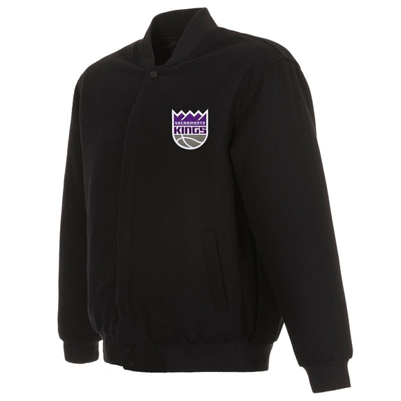 Sacramento Kings Reversible Wool Jacket - Black - JH Design