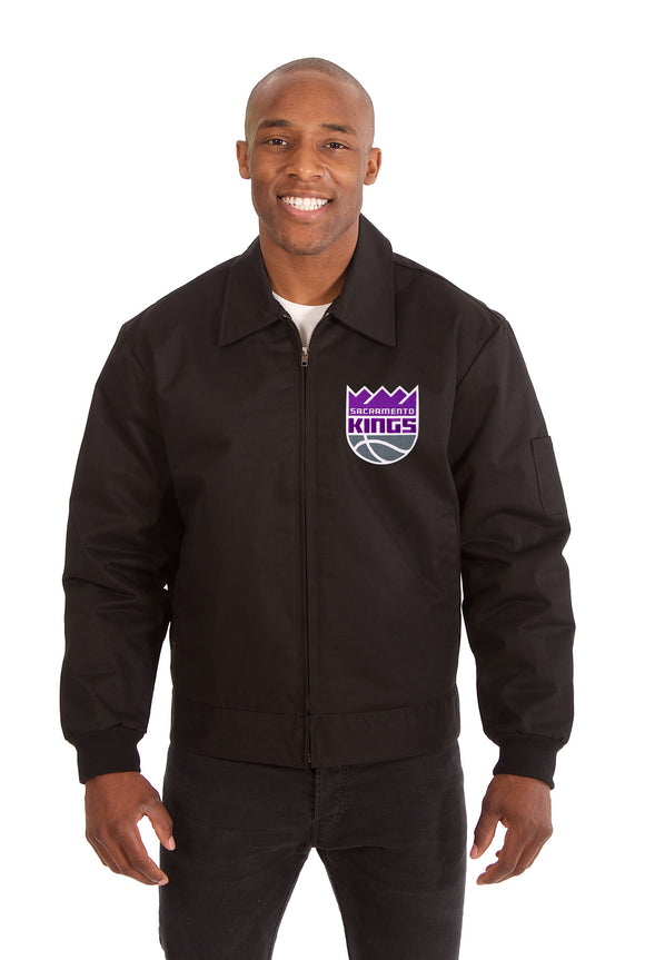 Sacramento Kings Cotton Twill Workwear Jacket - Black - JH Design