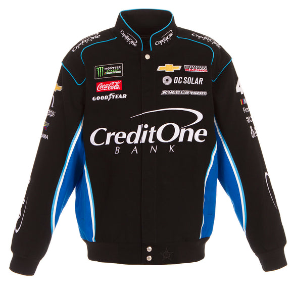 2018 Kyle Larson Credit One Nascar Jacket - Black - JH Design