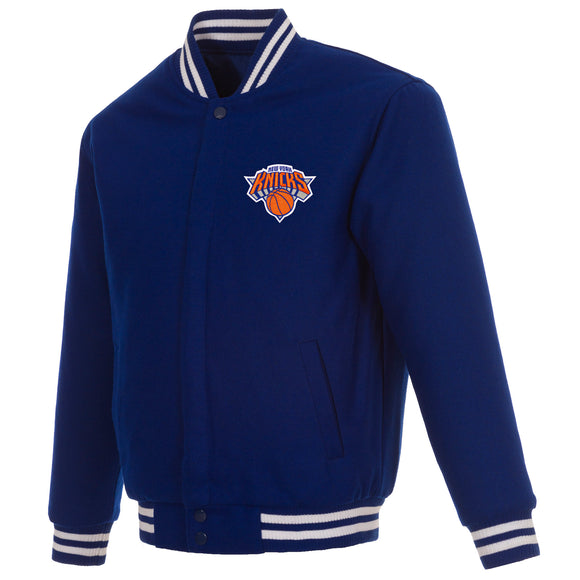 New York Knicks Reversible Wool Jacket - Royal