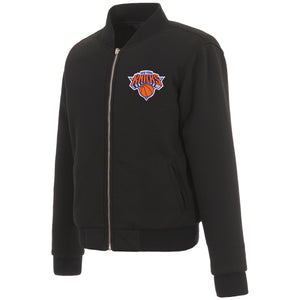 New York Knicks JH Design Reversible Women Fleece Jacket - Black - JH Design