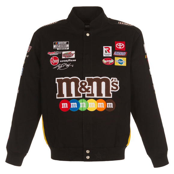 2021 Kyle Busch M&Ms Full-Snap Twill Uniform Jacket - Black - JH Design