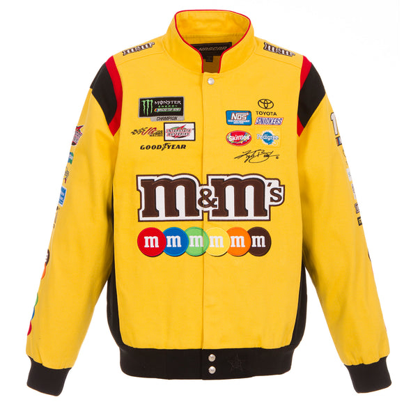 2018 Kyle Busch M&M Nascar Uniform Twill Jacket - Yellow - JH Design