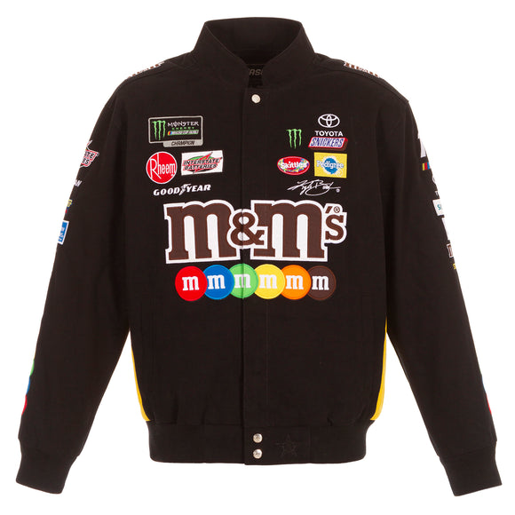 2019 Kyle Busch M&M Nascar Twill Jacket - Black - JH Design