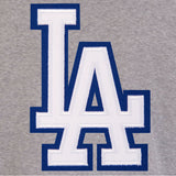 Los Angeles Dodgers Two-Tone Reversible Fleece Jacket - Gray/Royal - JH Design