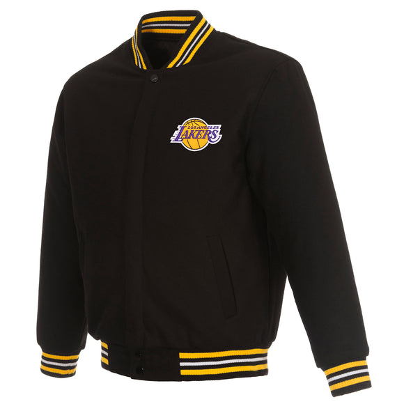 Los Angeles Lakers Reversible Wool Jacket - Black - JH Design
