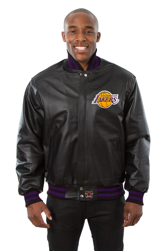 Los Angeles Lakers Full Leather Jacket - Black