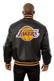 Los Angeles Lakers Full Leather Jacket - Black - JH Design