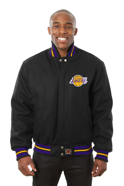 Los Angeles Lakers Embroidered Wool Jacket - Black