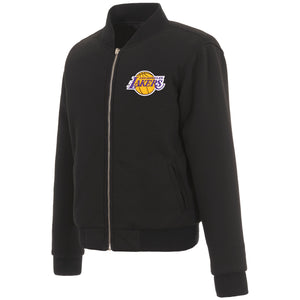 Los Angeles Lakers JH Design Reversible Women Fleece Jacket - Black - JH Design