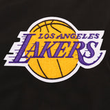 Los Angeles Lakers JH Design Lightweight Nylon Bomber Jacket – Black - JH Design