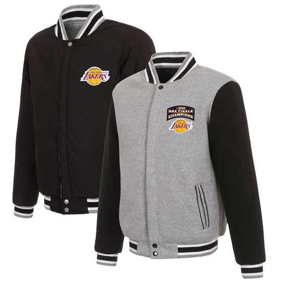 Los Angeles Lakers JH Design 2020 NBA Finals Champions Reversible Full-Snap Jacket - Charcoal - JH Design