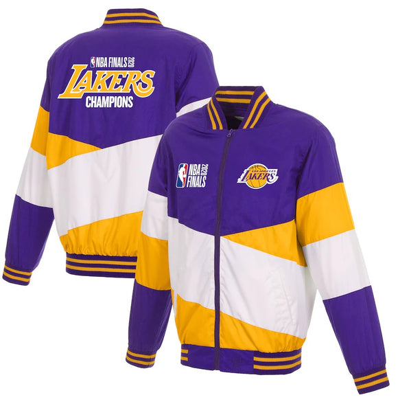 Los Angeles Lakers JH Design 2020 NBA Finals Champions Ripstop Full-Zip Jacket - Purple/Gold - JH Design