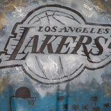 Los Angeles Lakers JH Design Hand-Painted Leather Jacket - Black - JH Design