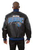 Orlando Magic Full Leather Jacket - Black - JH Design