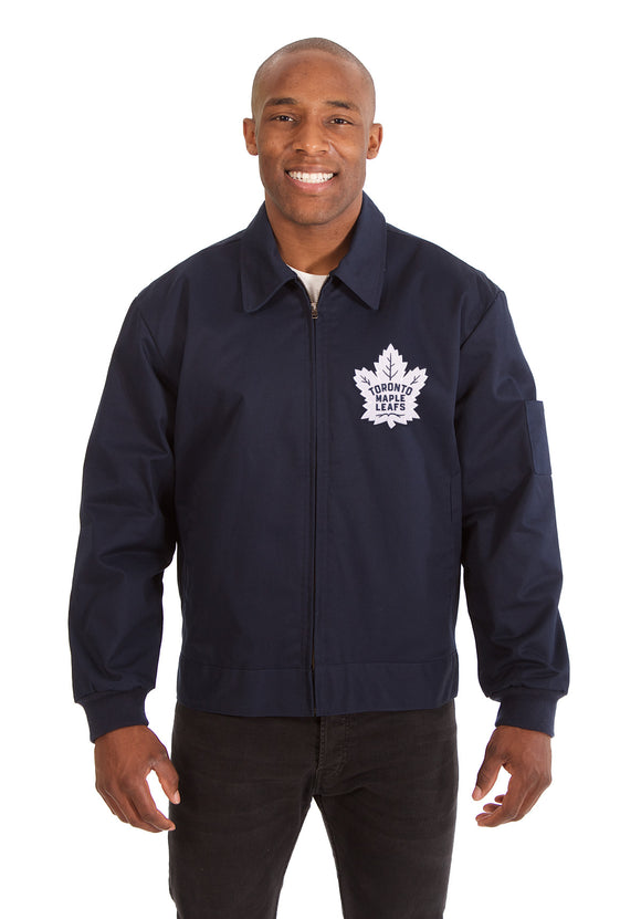 Toronto Maple Leafs Cotton Twill Workwear Jacket - Navy - J.H. Sports Jackets