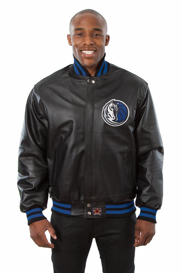 Dallas Mavericks Full Leather Jacket - Black
