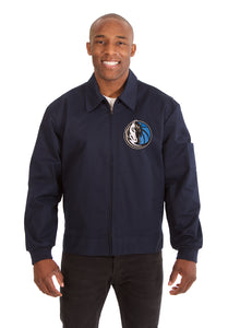 Dallas Mavericks Cotton Twill Workwear Jacket - Navy - JH Design