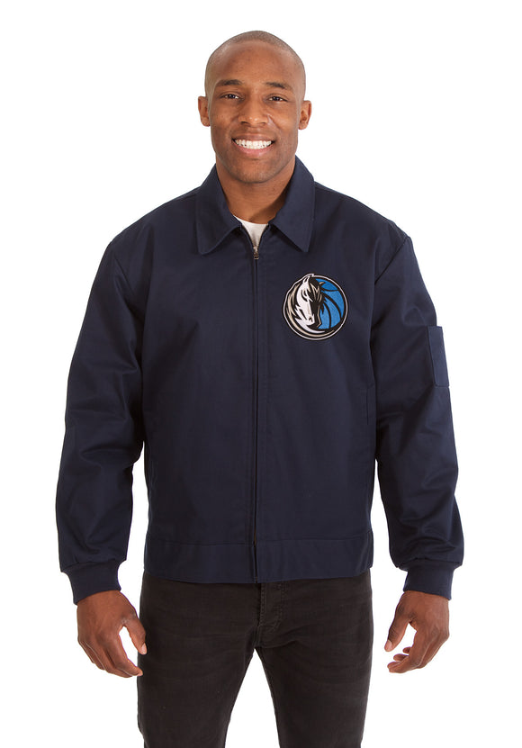 Dallas Mavericks Cotton Twill Workwear Jacket - Navy