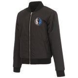 Dallas Mavericks JH Design Reversible Women Fleece Jacket - Black - JH Design