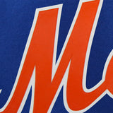 New York Mets Wool Jacket w/ Handcrafted Leather Logos - Royal - JH Design