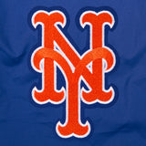 New York Mets Two-Tone Reversible Fleece Hooded Jacket - Gray/Royal - J.H. Sports Jackets