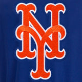 New York Mets Two-Tone Reversible Fleece Hooded Jacket - Royal/Grey - JH Design